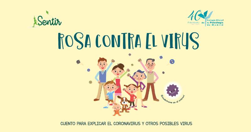 """Cuento gratuito """"Rosa contra el virus"""""""